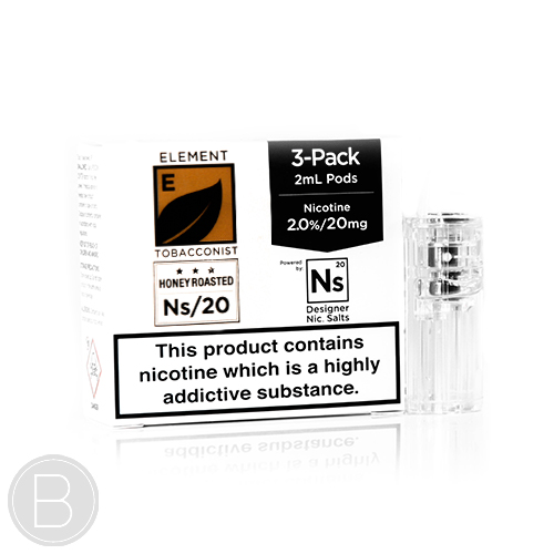 Element NS20 Pods - Honey Roast Tobacco NS20 - 6ml (3 x 2ml) Pods NS20 E-Liquid