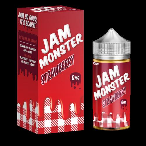 Jam Monster Liquids - Strawberry - 100ml 0mg Short Fill - BEAUM VAPE