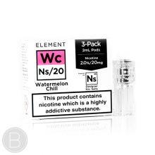 Element NS20 Pods - Watermelon Chill NS20 - 6ml (3 x 2ml) Pods NS20 E-Liquid