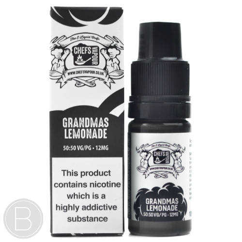 Chefs Vapour - Grandmas Lemonade 50/50 - 10ml E-Liquid