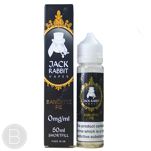 Jack Rabbit Vapes - Banoffee Pie - 50ml 0mg E-Liquid