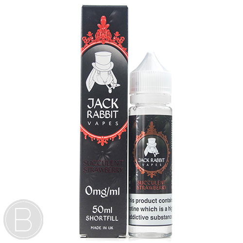 Jack Rabbit Vapes - Succulent Strawberry - 50ml 0mg E-Liquid
