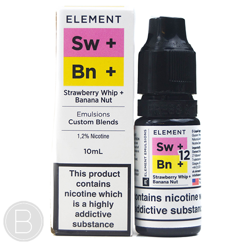 Element - Strawberry Whip Banana Nut 10ml E-liquid