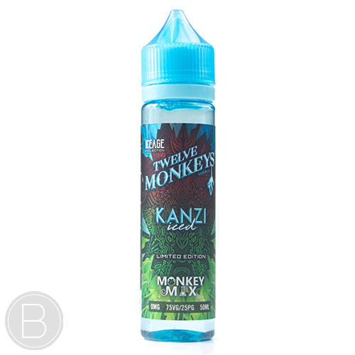 Twelve Monkeys - Kanzi Iced - 50ml 0mg Short Fill E-Liquid