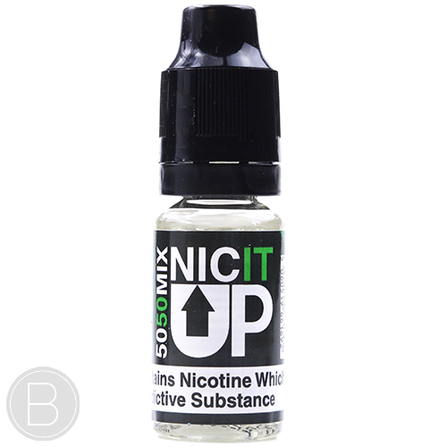 NIC IT UP 18mg Nicotine Shot - 10ml 50/50 VG PG 10ml - BEAUM VAPE