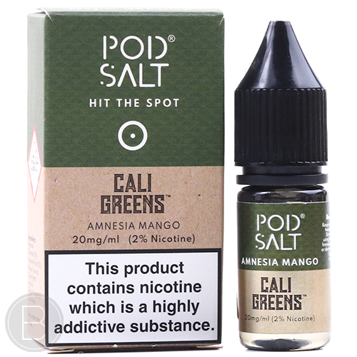 Pod Salt - Cali Greens Amnesia Mango - 20mg Nic Salt 10ml - BEAUM