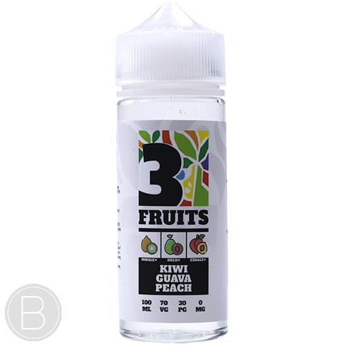 3 Fruits - Kiwi Guava Peach - 100ml Shortfill 0mg E-Liquid - BEAUM VAPE