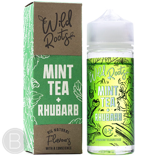 Wild Roots - Mint Tea & Rhubarb - 100ml Shortfill - 0mg - BEAUM VAPE