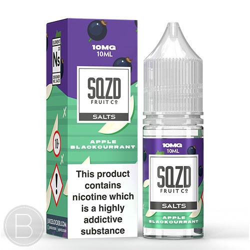 SQZD Salt - Apple Blackcurrant - 10ml Salt E-Liquid - BEAUM VAPE