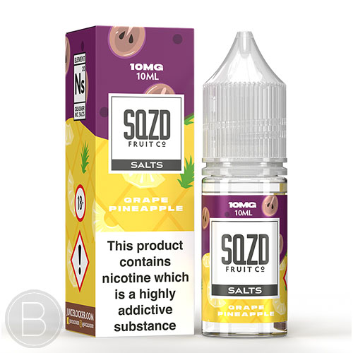 SQZD Salt - Grape Pineapple - 10ml Salt E-Liquid - BEAUM VAPE